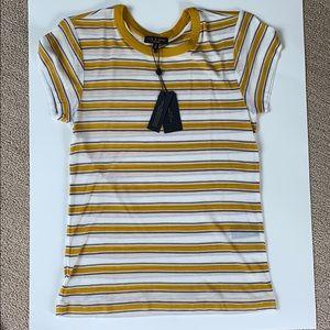 Yellow Striped Rag and Bone T-shirt.